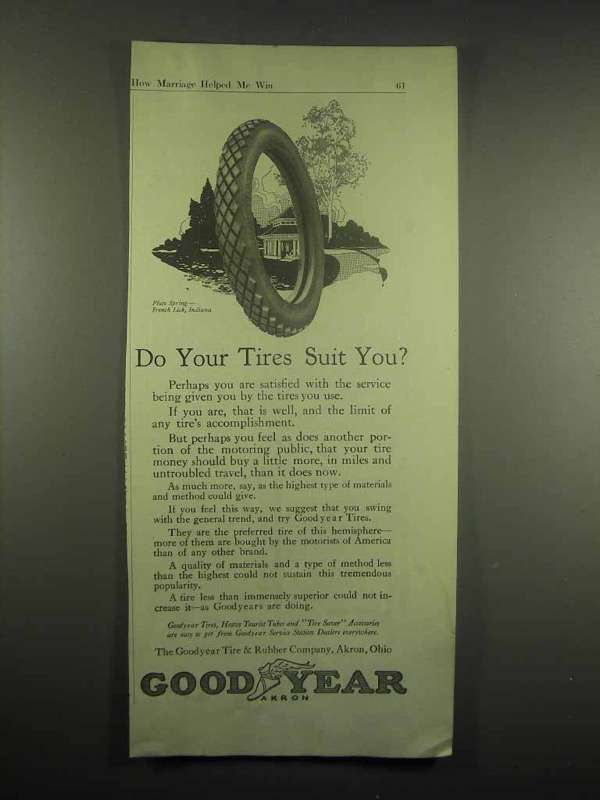1917 Goodyear Tires Ad - Do Your Tires Suit You?