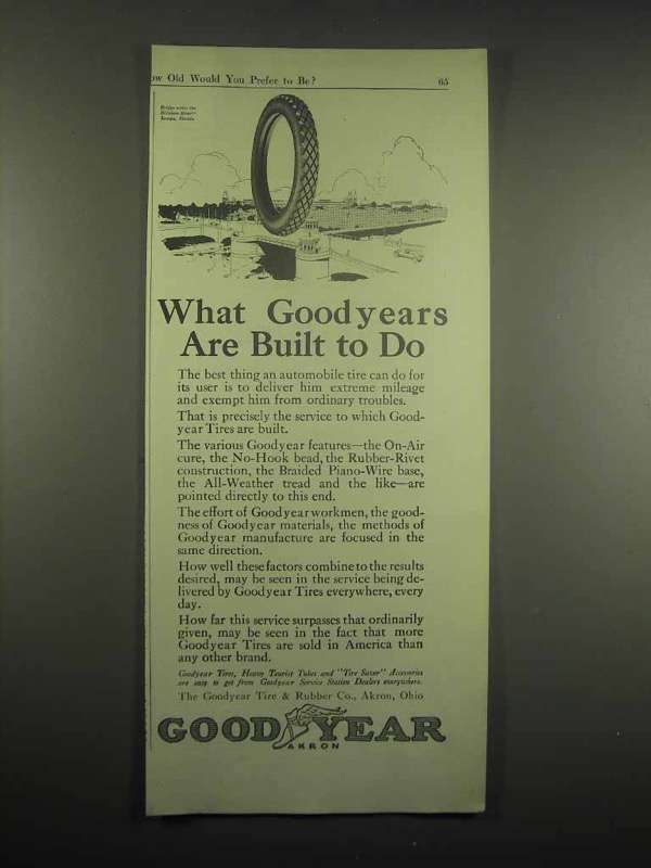 1917 Goodyear Tires Ad - Are Built To Do