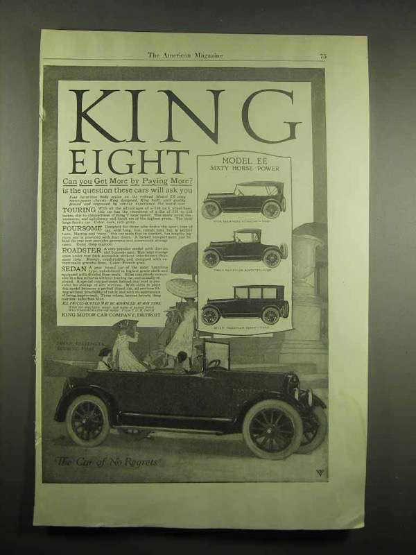 1917 King Eight Model EE Car Ad