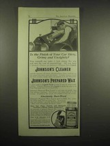 1917 Johnson's Cleaner, Prepared Wax Ad - Your Car - $14.99