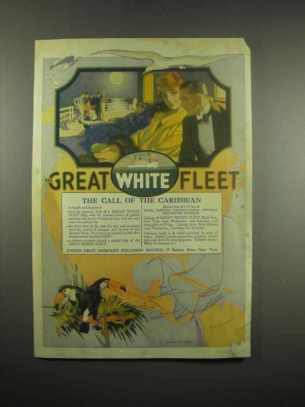 1917 Great White Fleet Ad - The Call of the Caribbean
