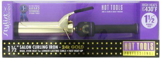 Hot Tools Professional 1102 Curling Iron with Multi-Heat Control, Big Bumper 1-1