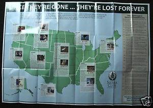 Topographical Map / Sierra Club / ENDANGERED SPECIES