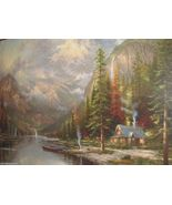 Mountain Majesty by Thomas Kinkade Offset Lithograph Print 18 X 24  Gorg... - $425.00