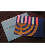 Hanukkah 8 holiday Greeting Cards silver blue embossed pop up Menorah ca... - $17.77