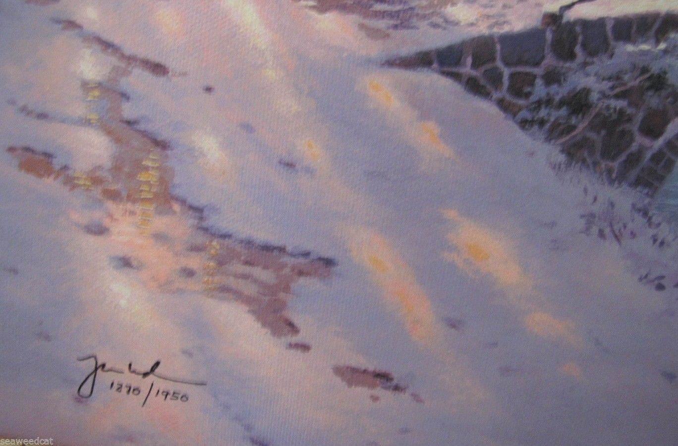 Thomas Kinkade Cobblestone Christmas Cobblestone Lane VI S/N Canvas Print