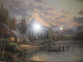 Thomas Kinkade Lakeside Hideaway 18x24 Low Number w/COA!! Absolutely Stu... - $550.00