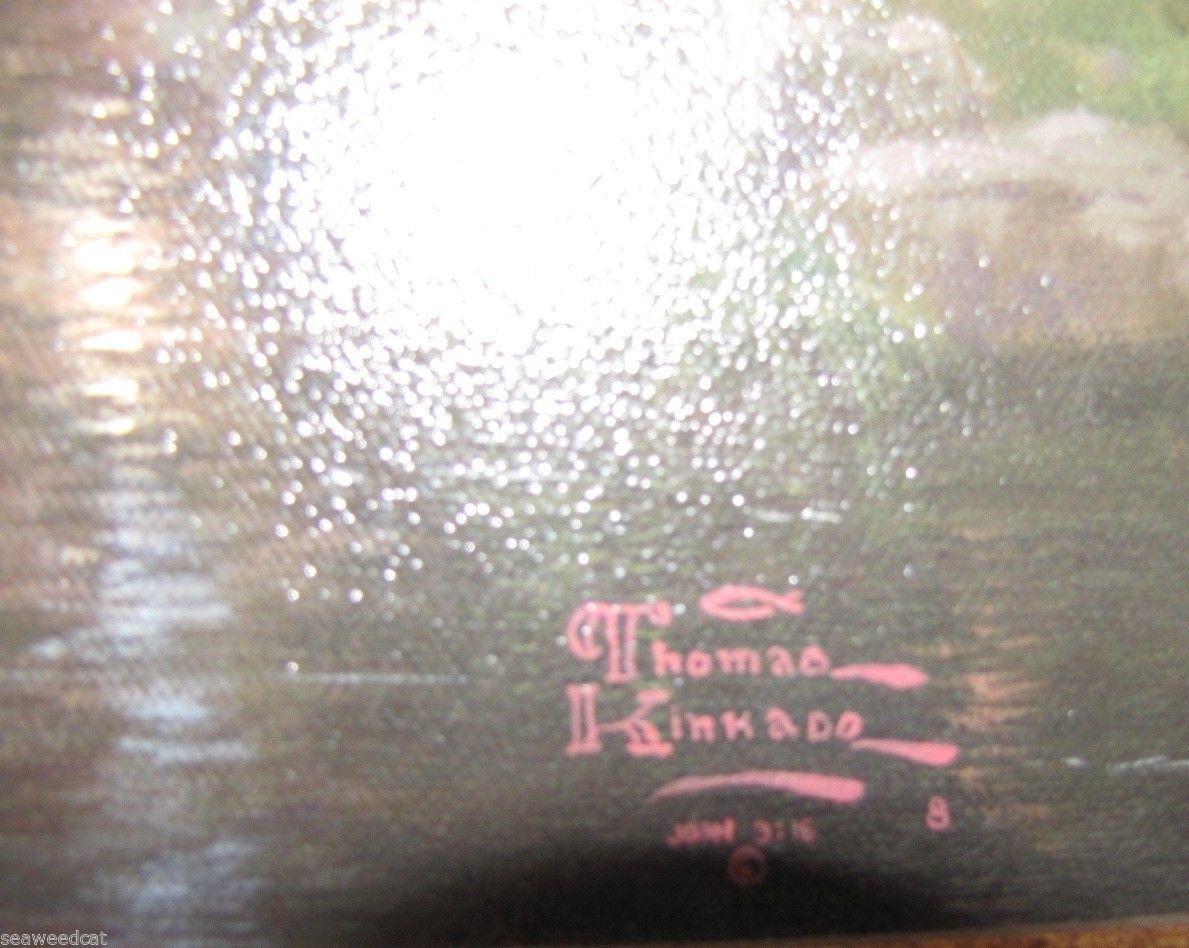 Thomas Kinkade~The Mountains Declare His Glory~ Print On Canvas S/N Beautiful