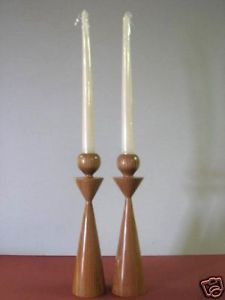 Red Elm Candlesticks, handcrafted by Glen Emery