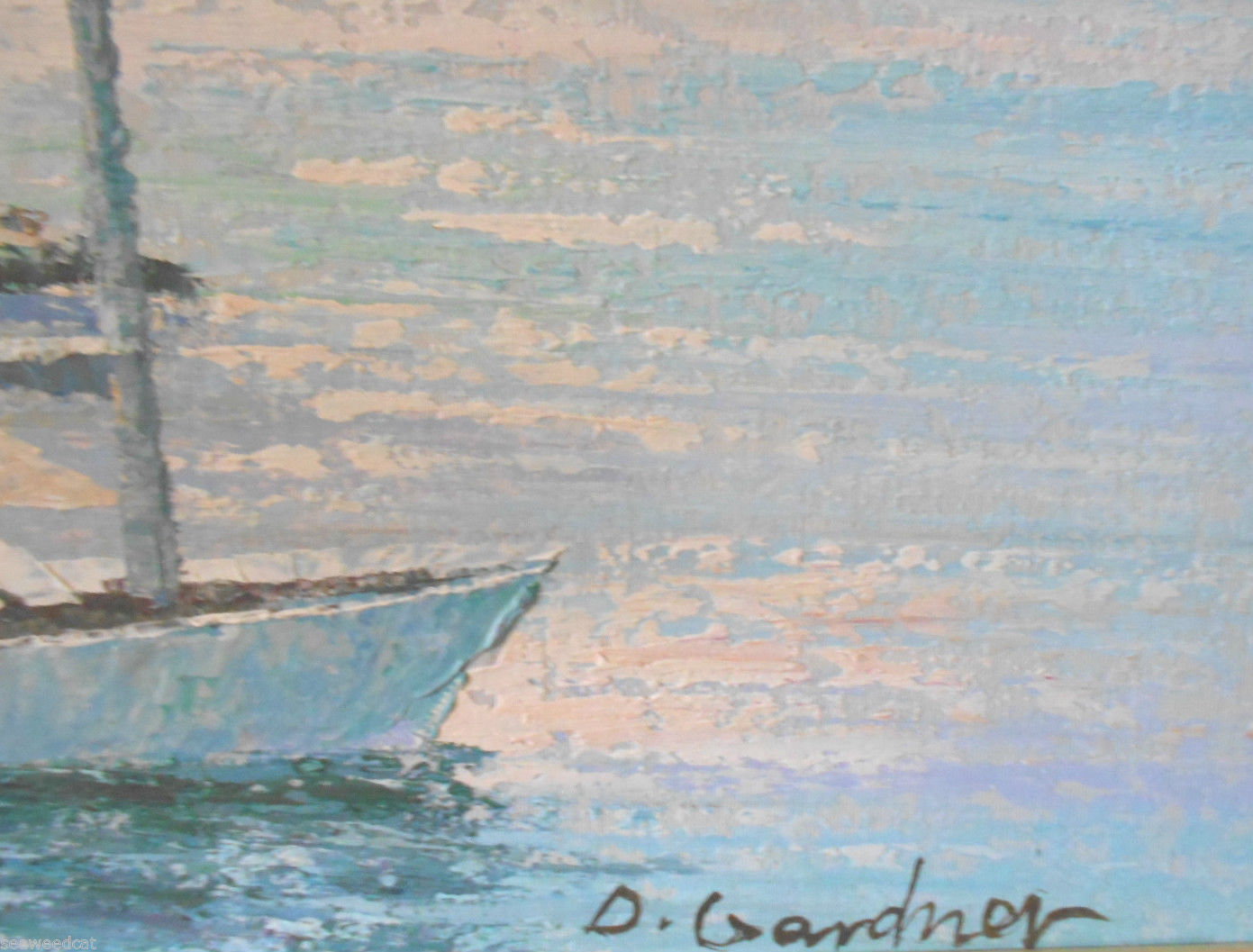 Sea Scape D. Gardner; Original Oil