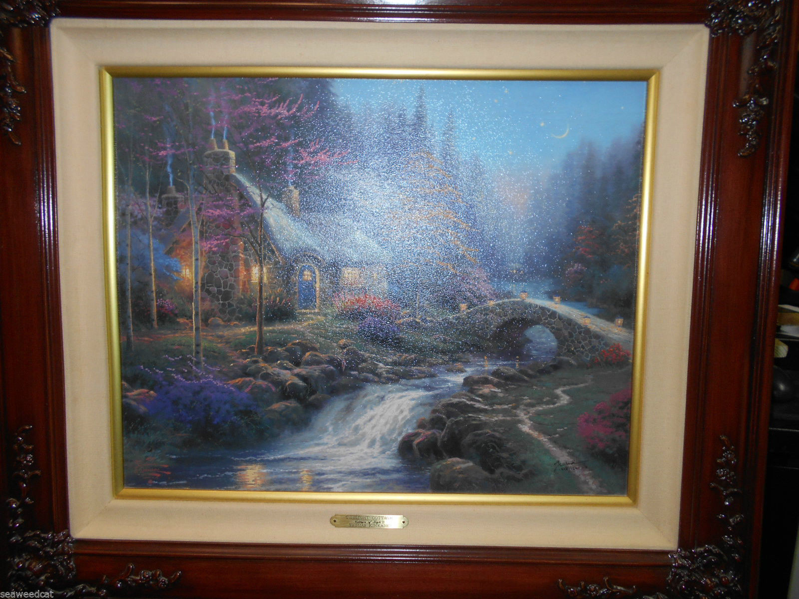 Thomas Kinkade Twilight Cottage Cottages Of Light II16x20 G/P Canvas - 444 /1240