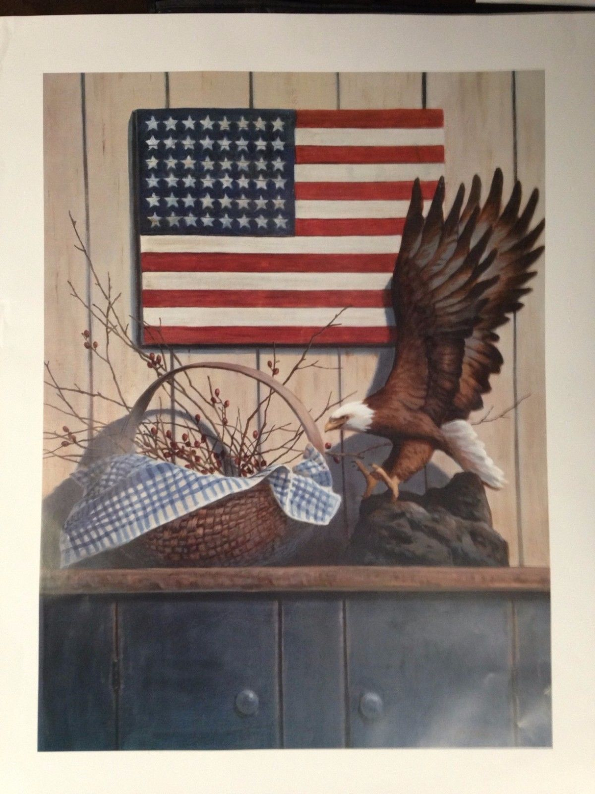 Eagle and Basket with Berries