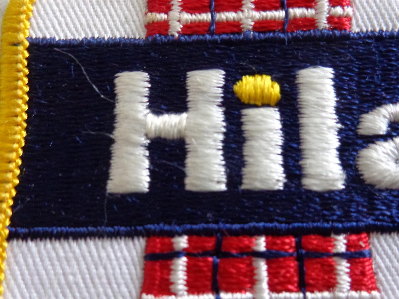 """HILAND"" RECTAGULAR CLOTH PATCH (#1866)."