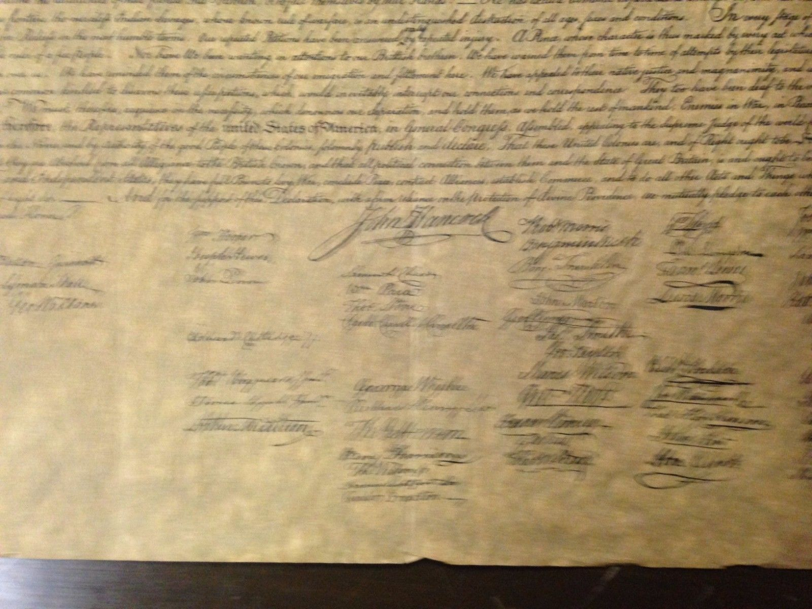 In Congress, July, 4th, 1776: The Unanimous Declaration By Unknown Artist