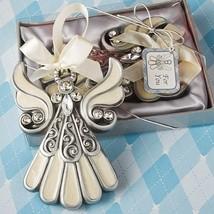 1 Shimmering Angel Ornament Favor Wedding Reception Christmas Baptism Pa... - $7.21