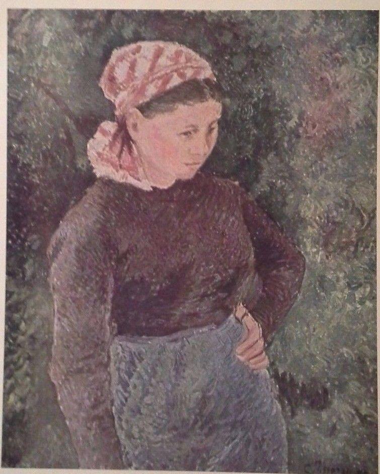 Peasant Woman (MINI PRINT) By Camille Pissarro
