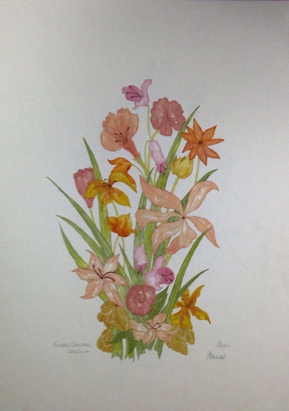 Floral Cascade By Pat Moran
