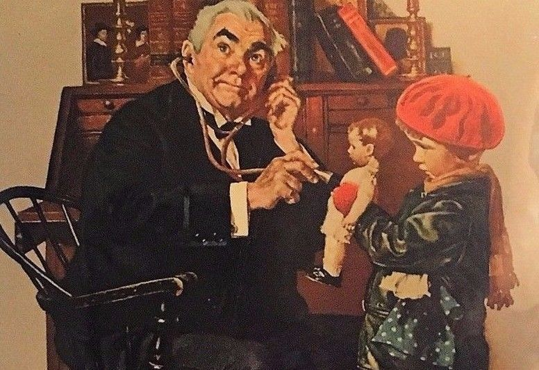 A Serious Case By Norman Rockwell