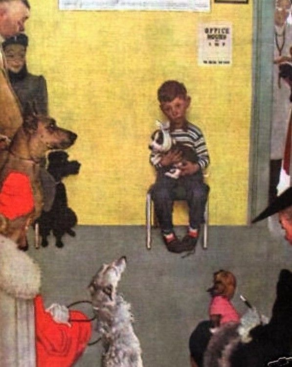 At The Vet's  By Norman Rockwell