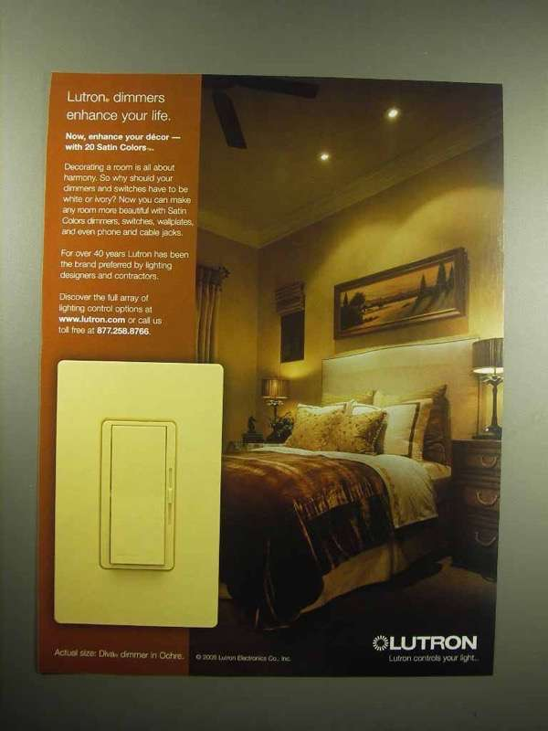 2005 Lutron Dimmers Ad - Enhance Your Life