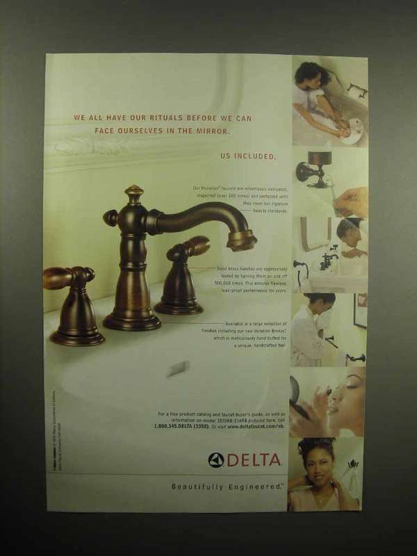 2003 Delta Victorian Faucet Ad - We All Have Rituals