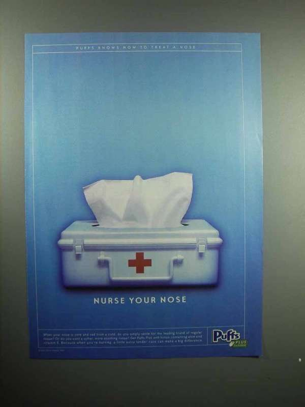 2000 Puffs Plus Tissues Ad - Nurse Your Nose