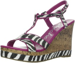 Skechers Cali Women's Bomb Shell Fantasia Wedge Sandal,Black,9 M US - $34.60