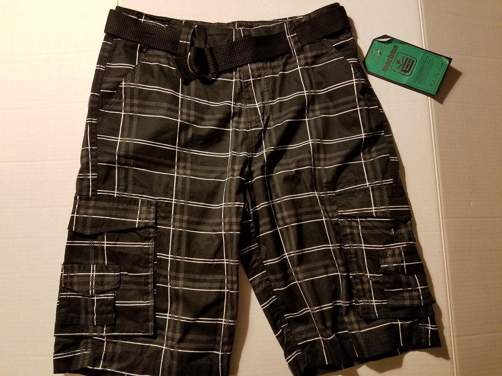 Machine Clothing Co.Boys Board Shorts Swim Shorts Trunks W Belt Size 16 18 NWT