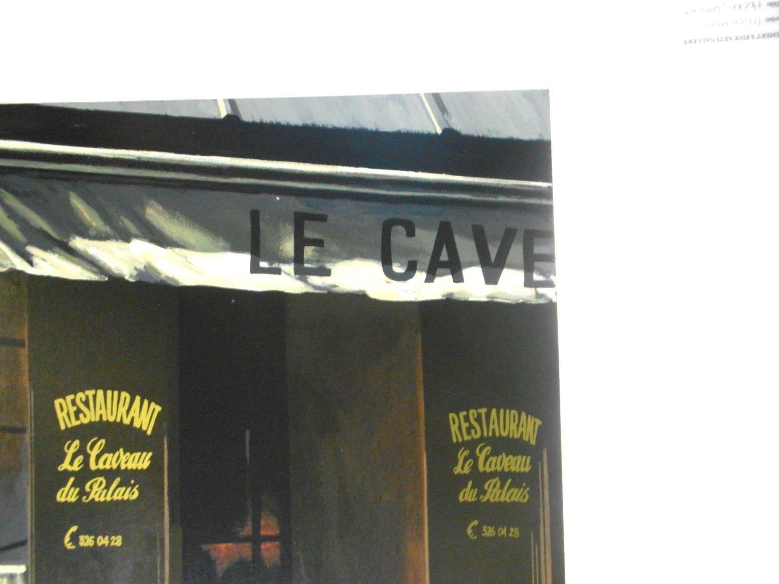 Le Caveau De Palais by Thomas Pradzynski; Rare signed