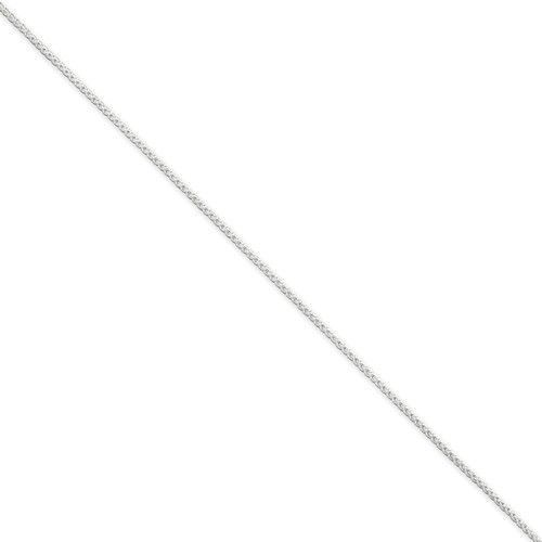 "STERLING SILVER 1.25MM ROUND SPIGA WHEAT 30"" CHAIN NECKLACE 30 INCH LENGTH"