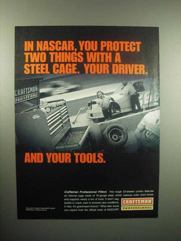 2000 Craftsman Professional Pitbox Ad - In NASCAR
