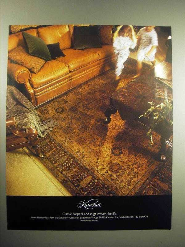 1999 Karastan Carpet Ad - Rugs Woven For Life