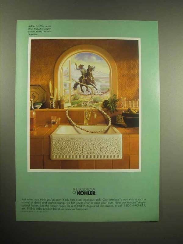 1998 Kohler Sink & Faucet Ad - The Bold Look
