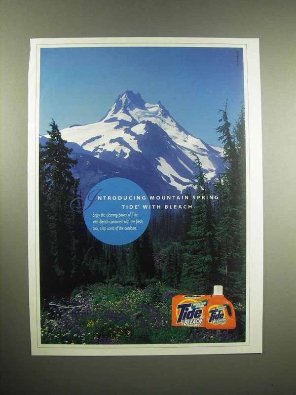 1998 Mountain Spring Tide With Bleach Detergent Ad