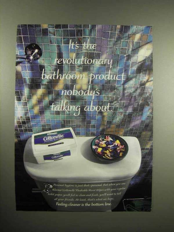 1998 Kleenex Cottonelle Moist Wipes Ad - Revolutionary