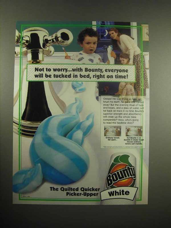 1998 Bounty Paper towels Ad - Right on Time