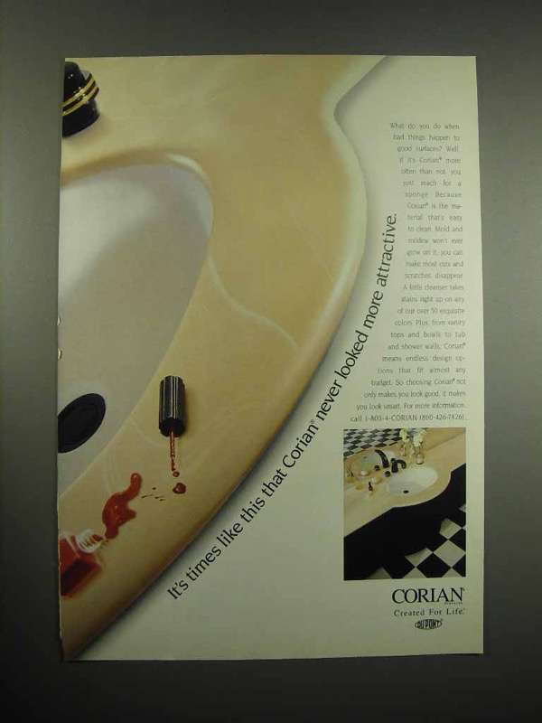 1997 Corian Counter Ad - Never Looked More Attractive