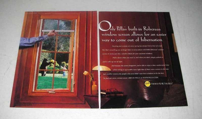1998 Pella Windows Ad - Built-in Rolscreen Easier