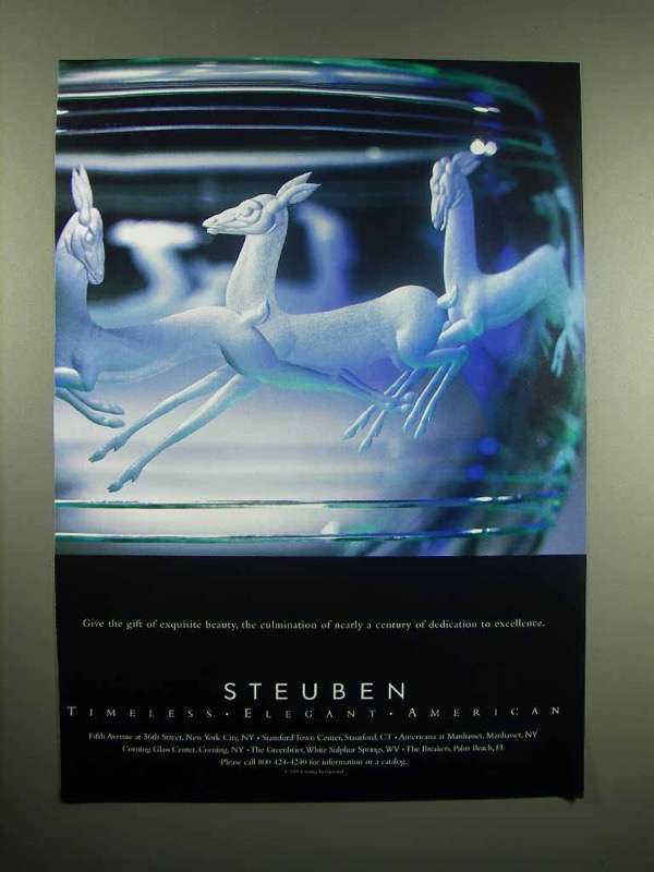 1997 Steuben Glass Ad - Gift of Exquisite Beauty
