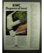 1992 KWC Faucet Ad - Elegance at Hand - $14.99