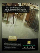 1992 Mannington Gold Floor Ad - Smearing With Acid - $14.99