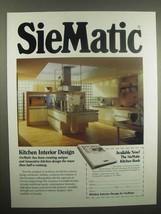 1992 SieMatic Kitchen Ad - $14.99