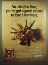 1992 KwikSet Keys Ad - You've Got a Good Excuse - $14.99