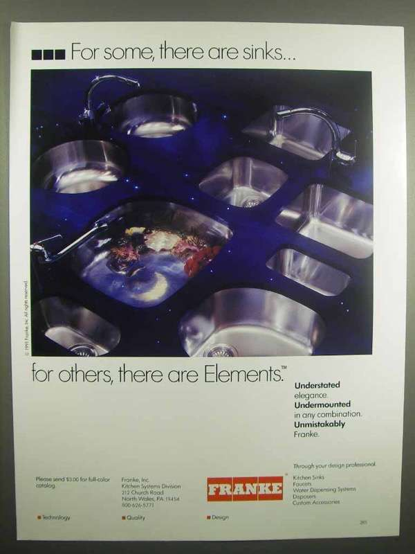 1992 Franke Sink Ad - There Are Elements