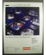 1992 Franke Sink Ad - There Are Elements - $14.99
