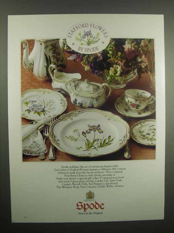 1992 Spode Stafford Flowers China Ad