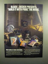 1989 Black & Decker Tools Ad - Build it With Pride, the movie - $14.99