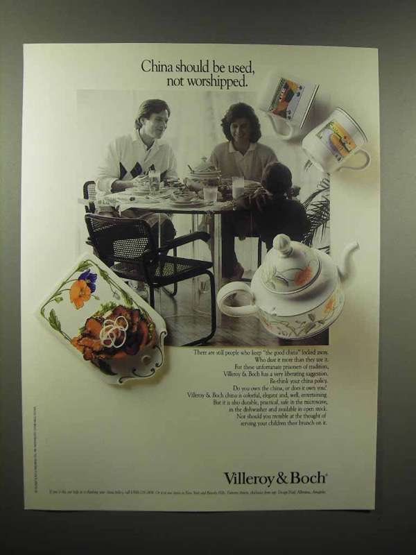 1989 Villeroy & Boch China Ad - Used Not Worshipped