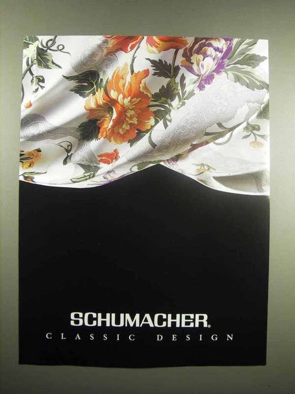 1991 Schumacher Fabric Ad - Classic Design