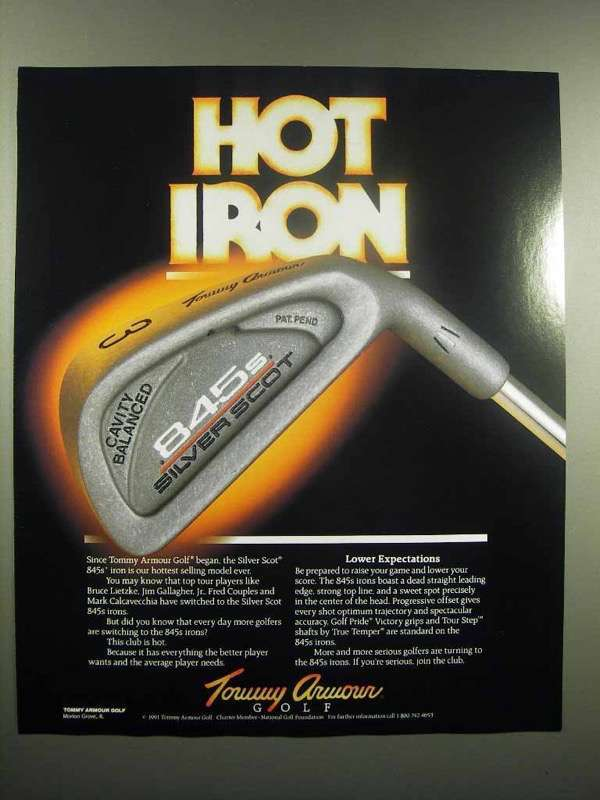 1991 Tommy Armour Silver Scot 845s Golf Club Ad